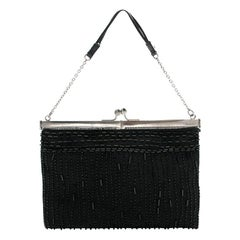 Prada Beaded Black Mini Bag