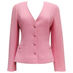 Chanel nice pink wool jacket, 1995 Spring Collection