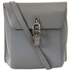 Delvaux Grey Leather Crossbody Bag