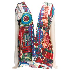 Hermès silk and cashmere V-neck sweater