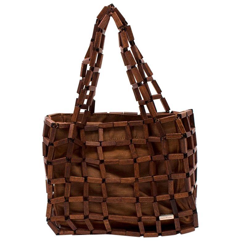 7e14dddbcb Salvatore Ferragamo Large Ostrich Skin Tote Shoulder Bag For Sale at 1stdibs