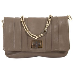 Anya Hindmarch Small Taupe Chain Shoulder Bag