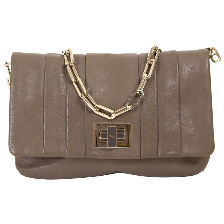 92d7e6cb8d Anya Hindmarch Small Taupe Chain Shoulder Bag For Sale at 1stdibs