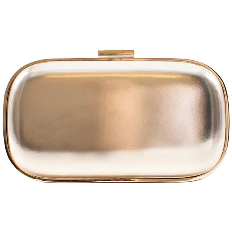 Anya Hindmarch Metallic Gold Clutch For