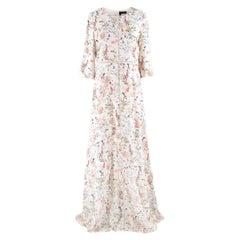 The Kooples Floral Print Long Silk Dress US 8