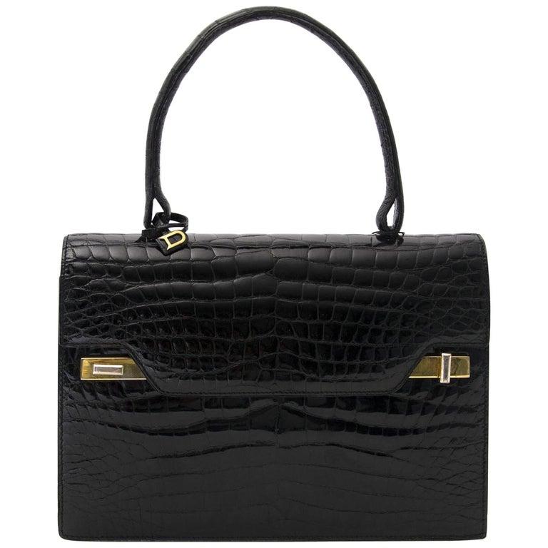 b7d2ecba Delvaux Vintage Croco Handbag