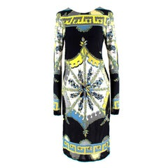 Emilio Pucci Black Abstract Pattern Dress US 6