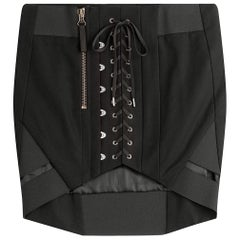 Anthony Vaccarello Lace-Up Mini Skirt