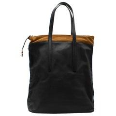 Agnona Panelled Leather Tote Bag