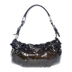Prada Ombre Patent Baguette Shoulderbag