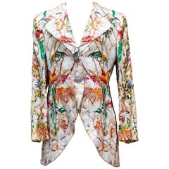 Christian Dior magnificent silk jacket with floral embroideries