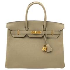 Hermès Birkin 35 Taurillon Clemence Sauge