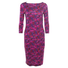 Erdem Multicolor Floral Printed Jersey Reese Dress M