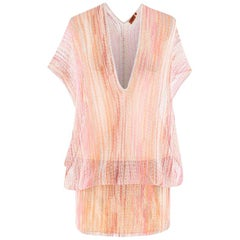 Missoni Pink Sheer Crochet Dress US 6