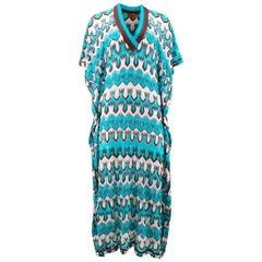 Missoni Blue Patterned Blue Dress US 8
