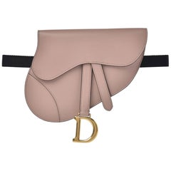 Christian Dior Limited Edition Beige Soldout Saddle Fanny Pack Waist Belt Bag