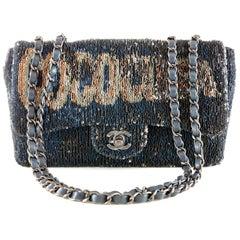 Chanel Blue COCO CUBA Sequins Flap Bag