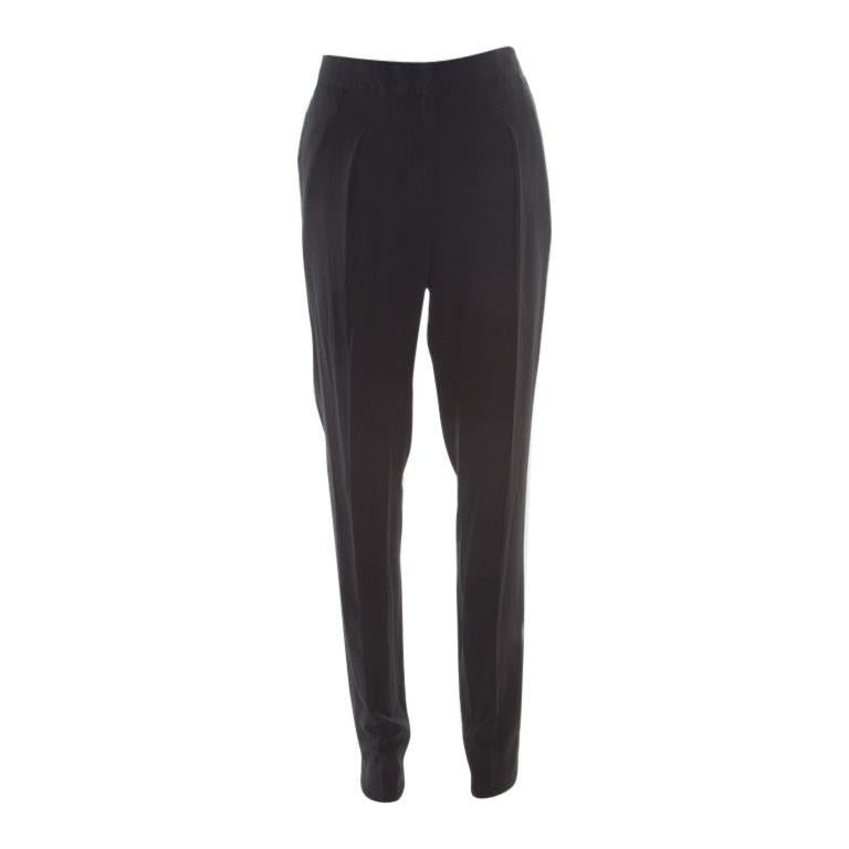 4f2c6e27c2 Vionnet Black Crepe Pleated High Waist Tailored Trousers L