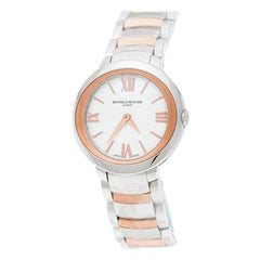 Baume & Mercier Stainless Steel And Rose Promesse65753 Women's Wriswatch 30 mm
