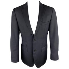 HUGO BOSS 38 Regular Navy Wool Notch Lapel Sport Coat