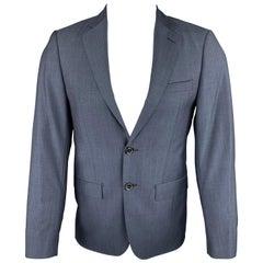 ELIE TAHARI 36 Short Navy Wool Notch Lapel Sport Coat