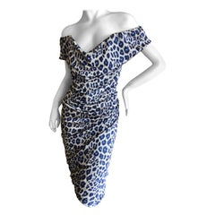 Vivienne Westwood Red Label Turquoise Leopard Print Dress with Built In Corset
