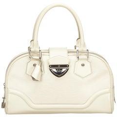 8607ffa0359b Louis Vuitton White Ivory Epi Leather Leather Epi Bowling Montaigne GM  France