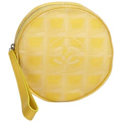 Chanel Yellow Nylon Fabric New Travel Line Pouch Italy