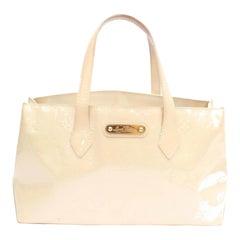 Louis Vuitton Wilshire Ivory Monogram Vernis Boulevard Pm 869017 White Patent Le
