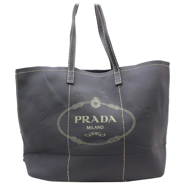 062546df2a5d Prada Side Zip Shopper Tote Vitello Daino Large For Sale at 1stdibs
