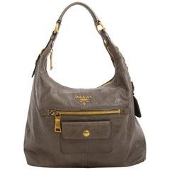 Prada Taupe Shoulder Bag