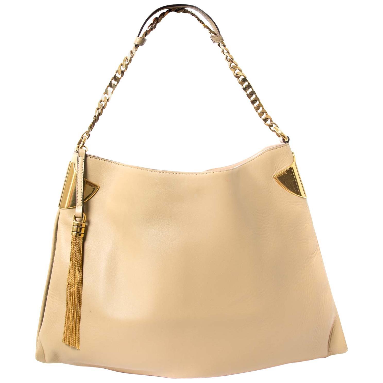 Gucci Beige Leather 1970 Handbag