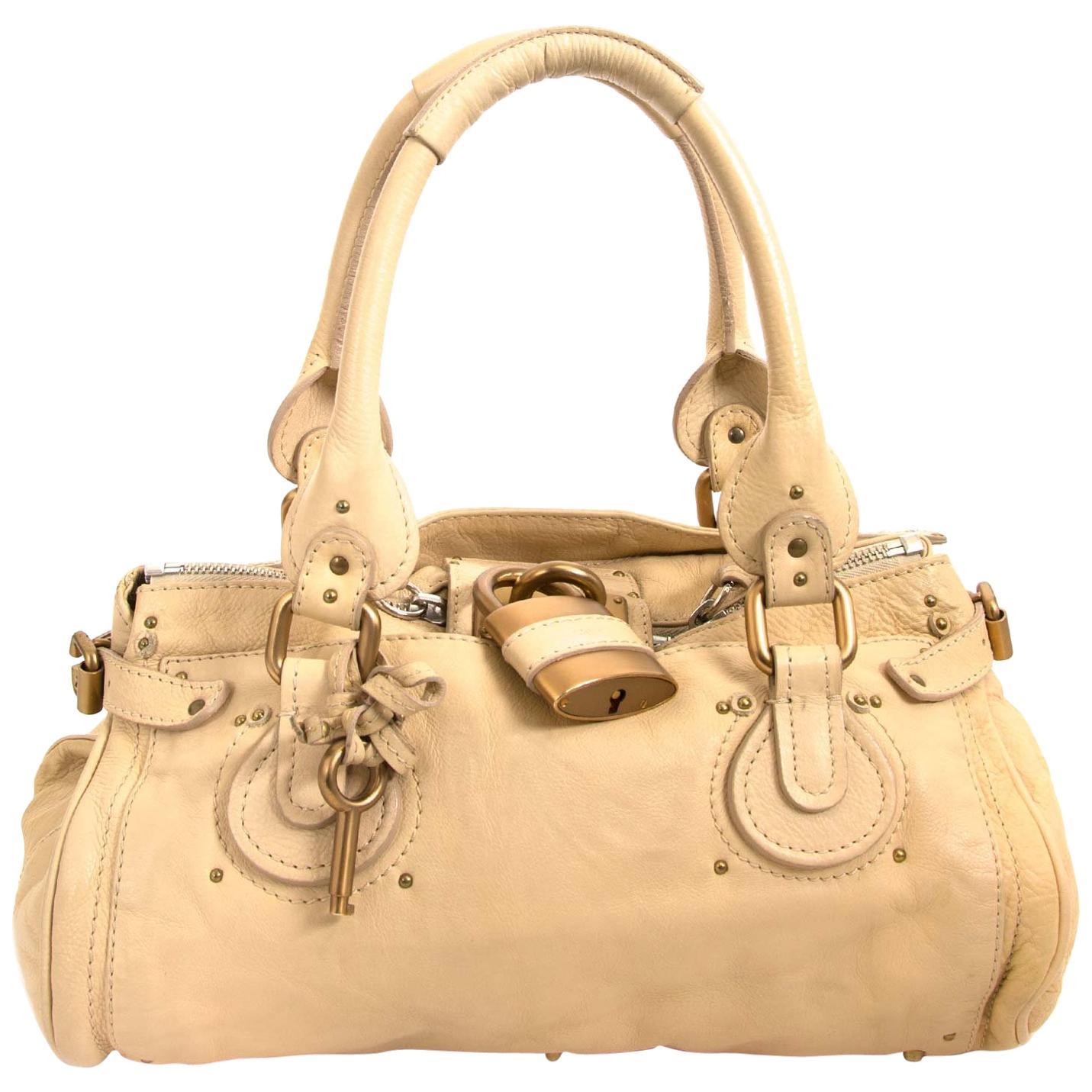 Chloé White Cream Paddington Padlock Bag