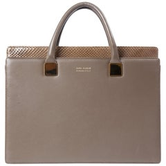 Linda Farrow Grey Anniversary Ayers And Leather Briefcase