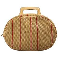 Delvaux Beige Toile De Cuir Backpack