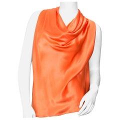 Lanvin Orange Silk Top - size 38