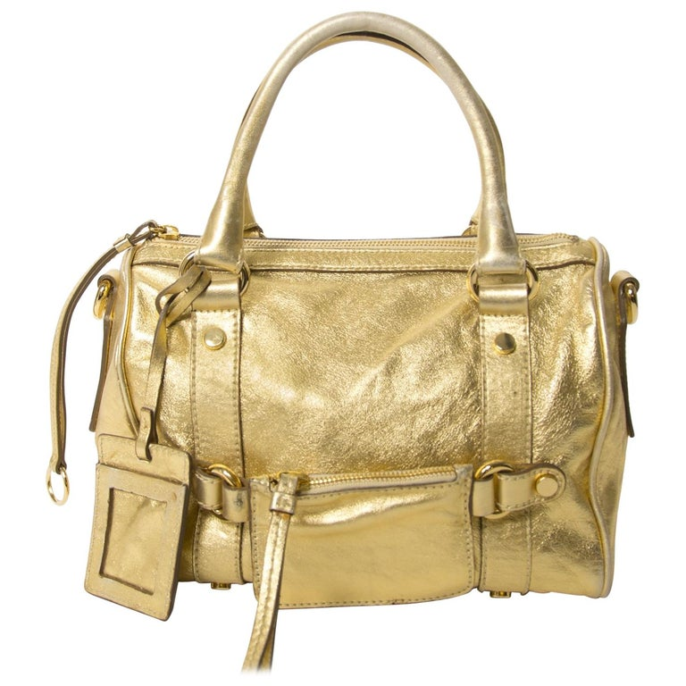 Dolce & Gabbana Gold Metallic Speedy Bag For Sale