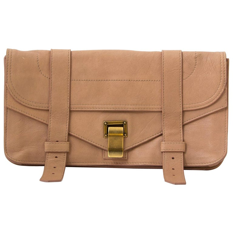 6dab762b8f4 Proenza Schouler PS1 Nude Pink Clutch For Sale at 1stdibs