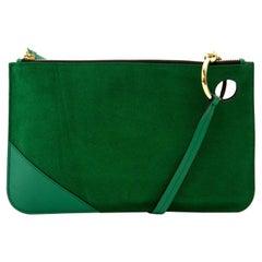 JW Anderson Emerald Green Pierce Clutch