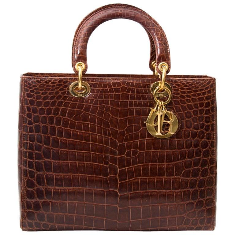 Dior Croco Lady Dior Bag For Sale At 1stdibs
