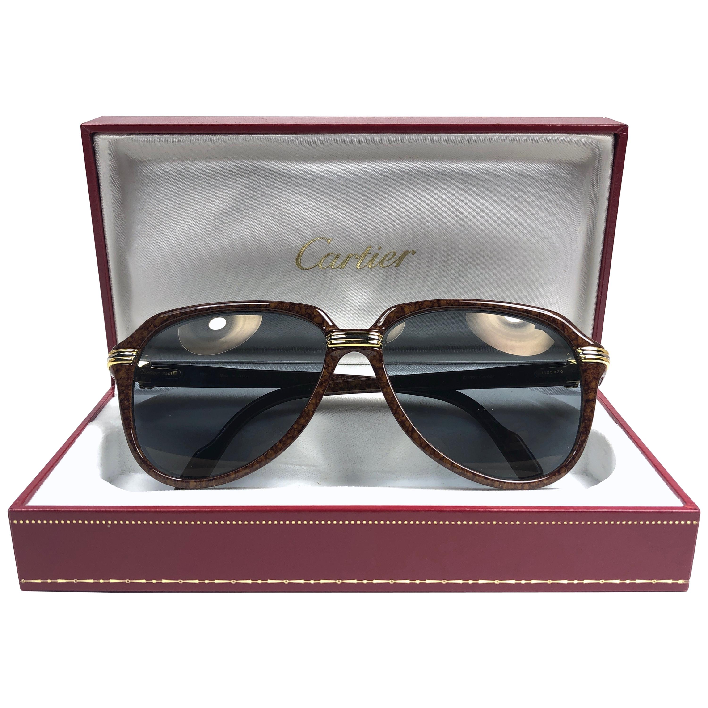 1f07a3fd9f Vintage Cartier Sunglasses - 156 For Sale at 1stdibs