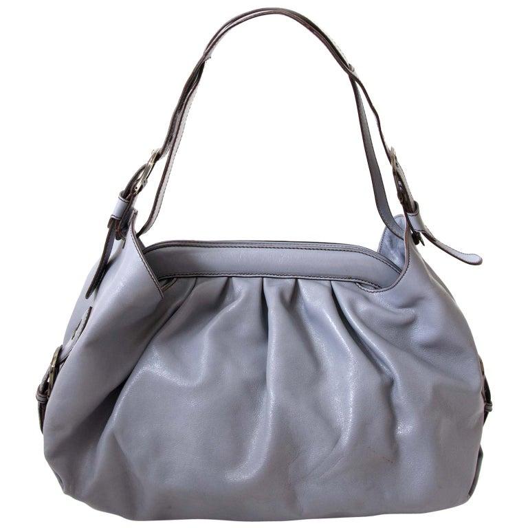 65b97e557648 Fendi Grey Blue Leather Doctor Bag For Sale at 1stdibs