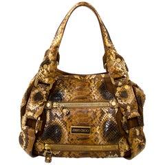 Jimmy Choo Python Brown Bag