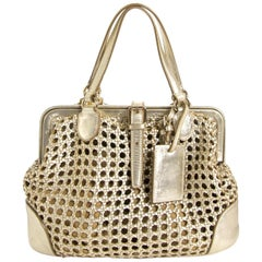 Ralph Lauren Gold Top Handle Bag