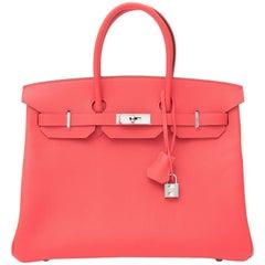 *Never Used* Hermès Birkin 35 Epsom Rose Jaipur PHW