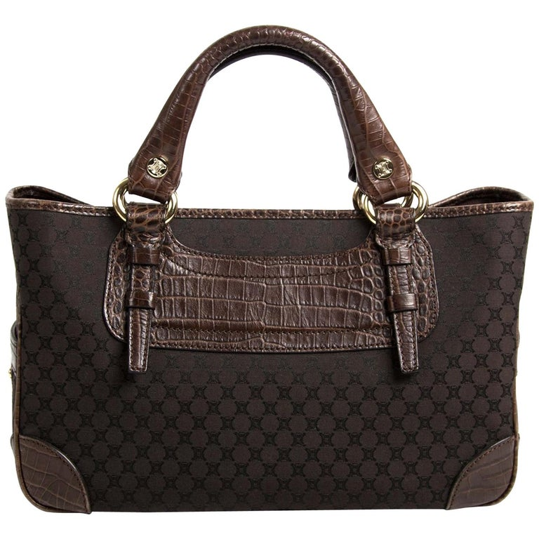 Céline Brown Monogram Boogie Bag For Sale