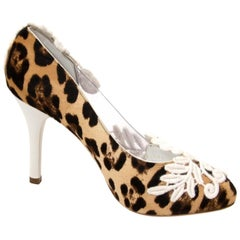 Dolce & Gabbana Leopard And Flower Lace Pumps