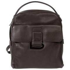 "Delvaux Brown Leather ""Onde"" Backpack"