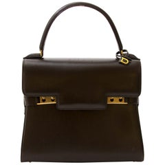 Delvaux Brown Tempête Mini Leather Bag