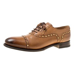 d566b6269f9 Men s GUCCI Size 11 Tan Antique Leather Silver Horsebit Pointed Toe ...
